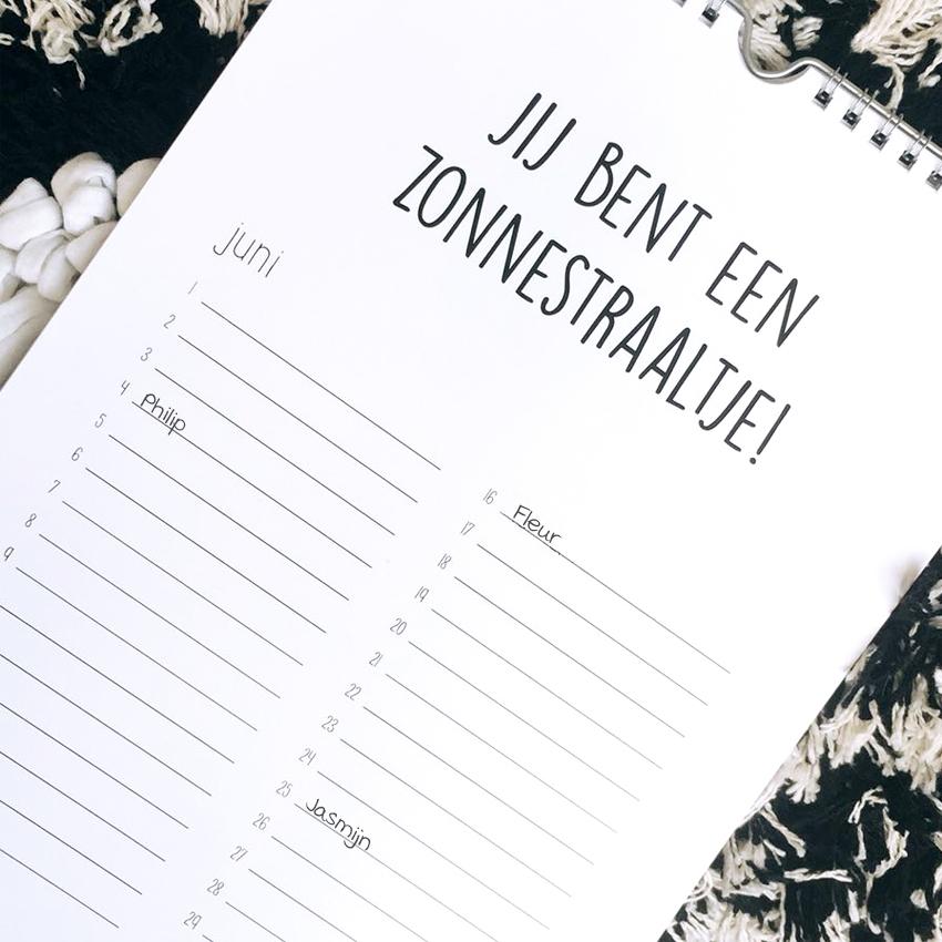 kalender kussen