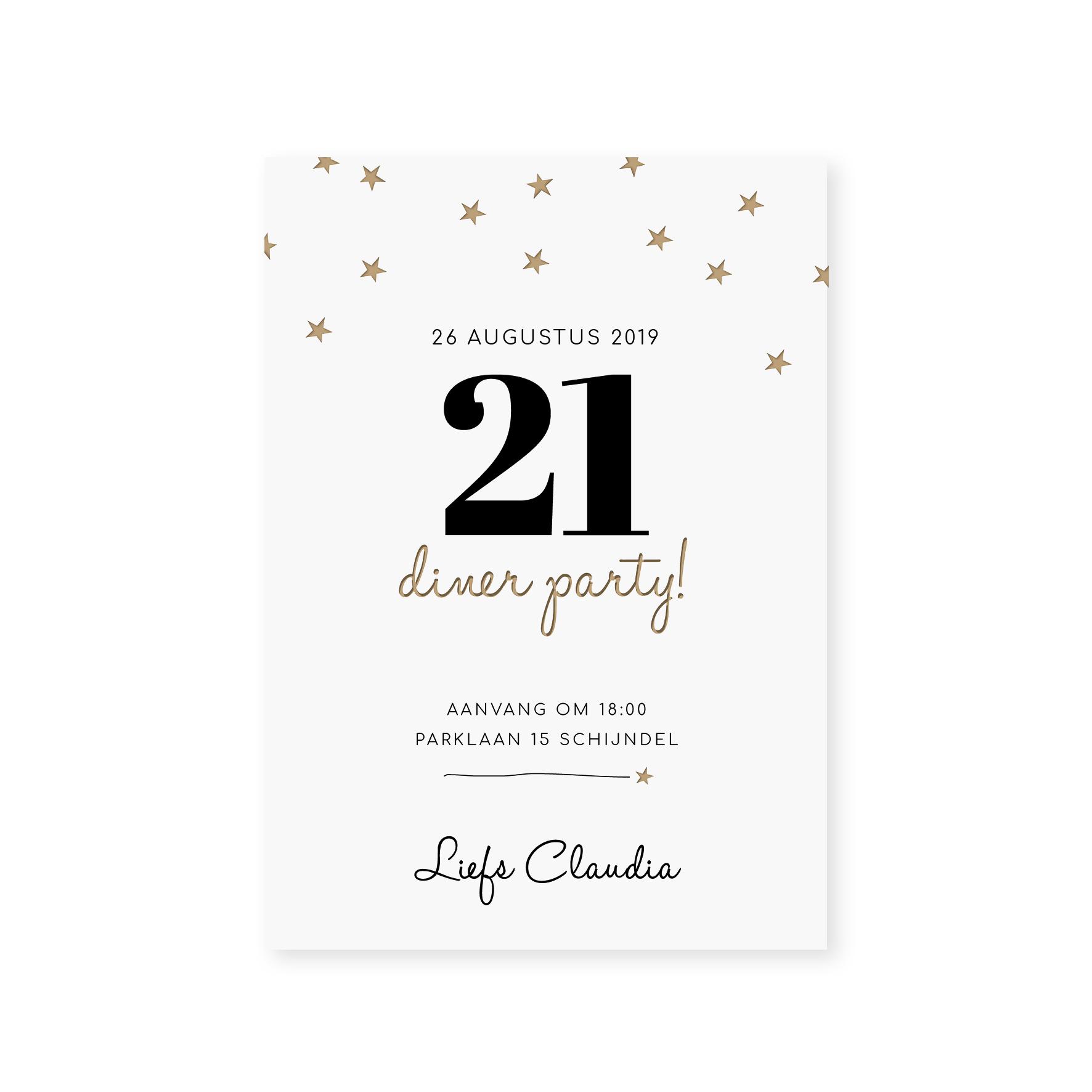 Twenty One Diner Ster Wit Sheet