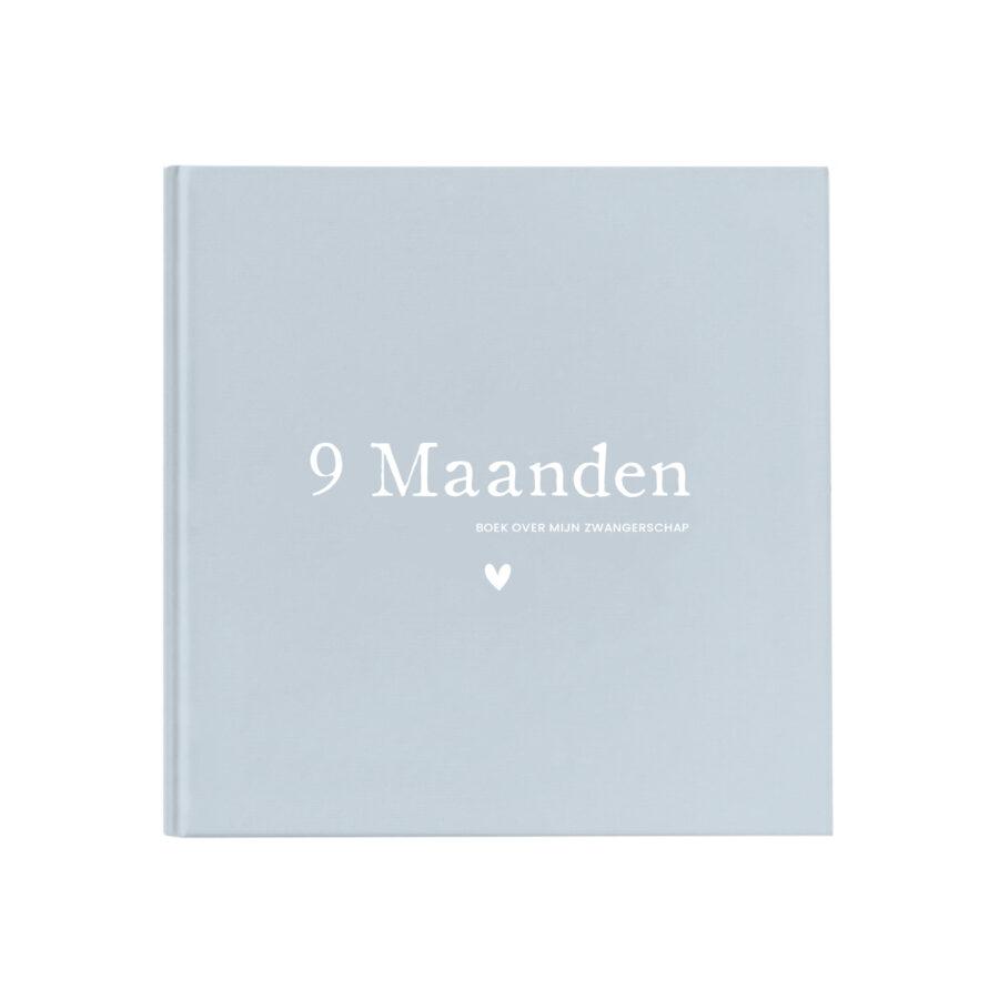 Zwanger 9 Maanden invulboek Jongen Linnen